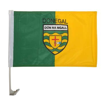 Donegal GAA Car Flag - Yellow