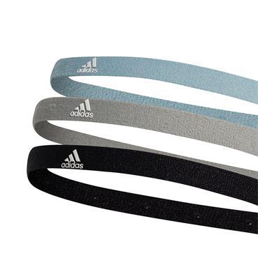 Adidas 3 Pack Headband - Black/Grey/Blue