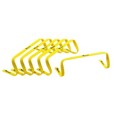 "Precision 6"" Flat Hurdles Set of 6 - Yellow"