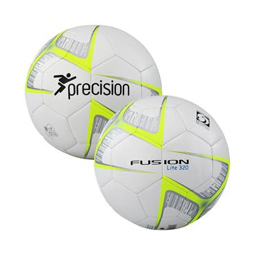 Precision Fusion Lite Footall | (Ages U9-U11) | 320G - White/Yellow