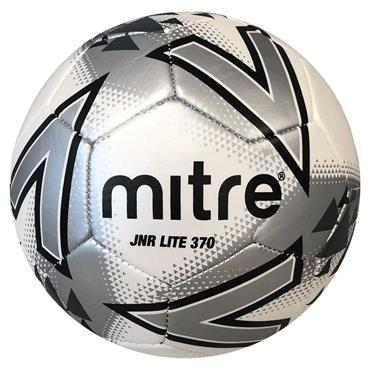 Mitre Junior Lite Football Size 5 370G - White/Black