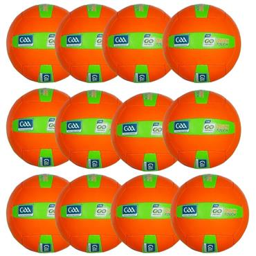 O'Neills Quick Touch Football | (Age U8-U10) | Pack of 12 - Orange