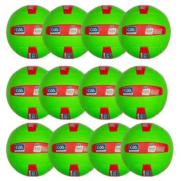 O'Neills Smart Touch Football | (Age U10-U12) | Pack of 12 - Green