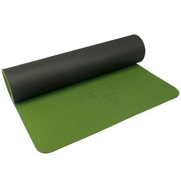 Ultimate Performance TPE Yoga Mat 6mm - Grey/Green
