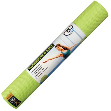 Fitness Mad Warrior II Yoga Mat 4mm - Lime Green