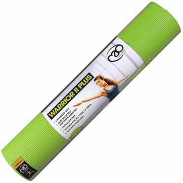 Fitness Mad Warrior II Plug Yoga Mat 6mm - Lime Green
