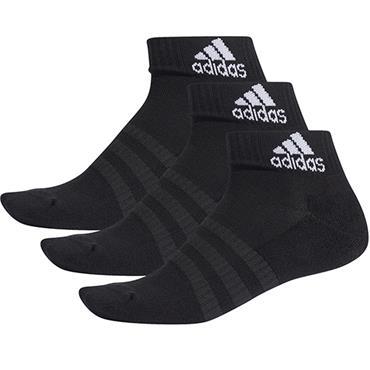 Adidas Cushioned Ankle Socks 3 Pairs - BLACK