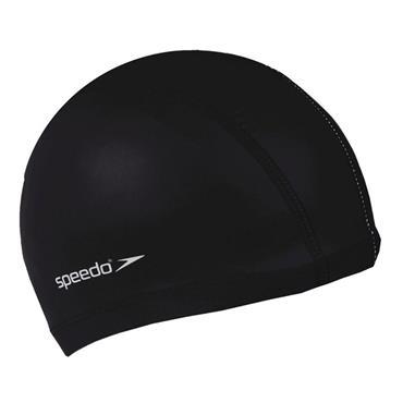 Speedo Junior Polyester Swim Cap - BLACK