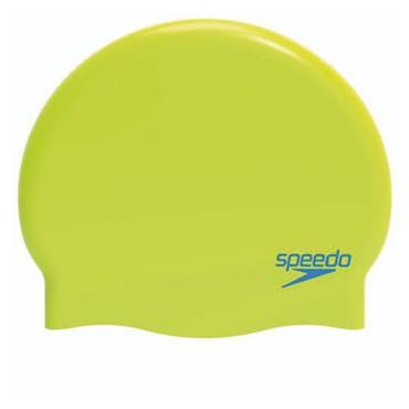 Speedo Junior Moulded Silicone Swim Cap - Green