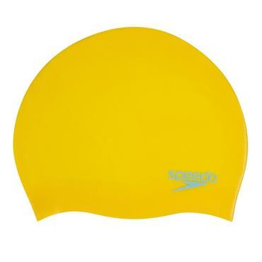 Speedo Junior Moulded Swim Cap - Yellow
