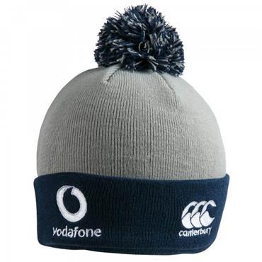 Canterbury Ireland Acrylic Bobble Hat - Grey