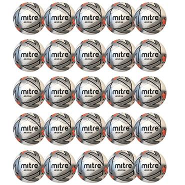 Mitre Junior Lite 290G Football | (Age U6-U8) | Pack of 20 - White/Orange