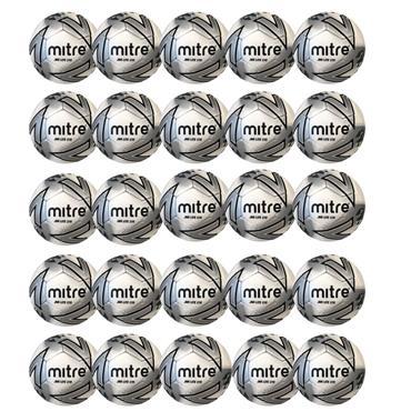 Mitre Junior Lite 370G Football | (Age U12-U14) | Pack of 20 - White/Black