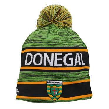 Donegal GAA Bobble Hat - Green/Amber