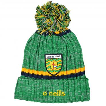 O'Neills Adults Donegal GAA Nevis 83 Bobble Hat - Green