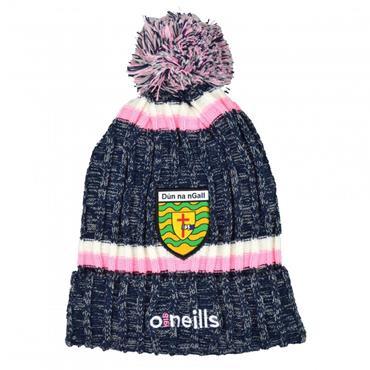 O'Neills Womens Donegal GAA Nevis 83 Bobble Hat - Navy