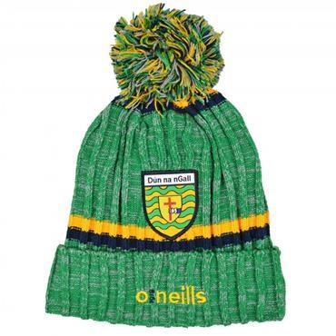 O'Neills Kids Donegal GAA Nevis 83 Bobble Hat - Green