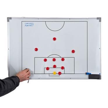 Precision Soccer Double Sided Tactics Board 60x90cm - WHITE