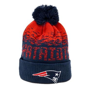 New Era NFL Patriot Bobble Hat - Navy