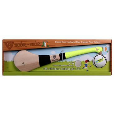 "Scor Mor GAA Hurling Gift Set 22"" Age 5-7 - Yellow"