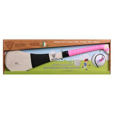 "Scor Mor GAA Hurling Gift Set 24"" Age 7-9 - Pink"