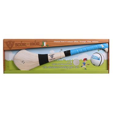 """Scor Mor GAA Hurling Gift Set 24"""" Age 7-9 - Blue"""