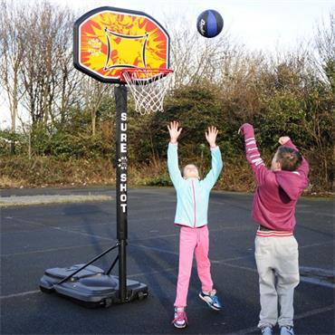 Sure Shot Portable Basketball Unit - BLACK