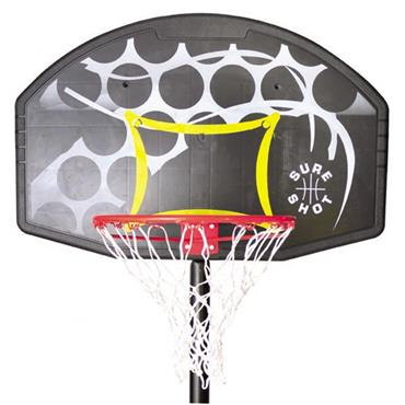 Sure Shot Basketball Backboard and Ring - BLACK