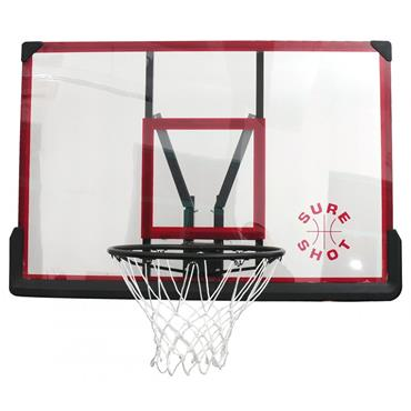 Sure Shot Wallmount Basketball Backboard and Ring - BLACK