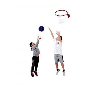 Sure Shot Fast Break Basketball Ring and Net - Clear