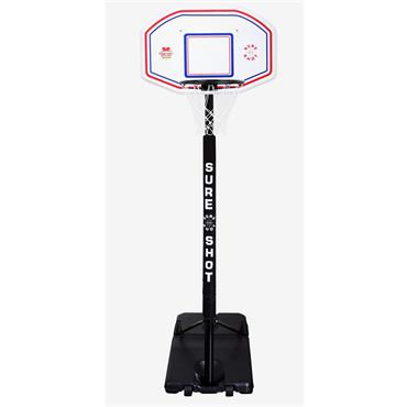 Sure Shot Portable Basketball Unit - BLACK