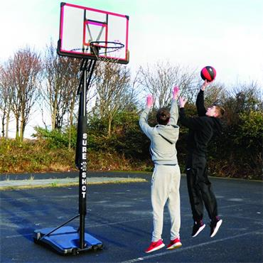 Sure Shot Easijust Basketball Hoop and Stand - BLACK