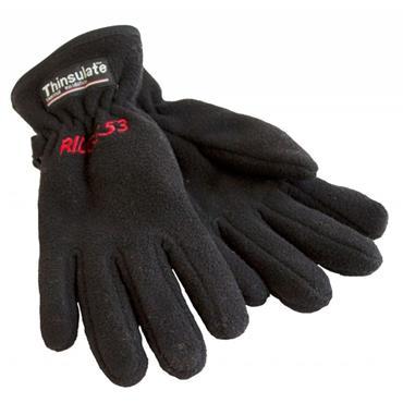 Ridge 53 Adults Thinsulate Fleece Gloves - BLACK