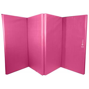 Sure Shot Foladable Gymnastics Mat/Tumbling Mat | 8ft x 4ft x 60mm | - Pink