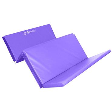 Sure Shot Foldable Gymnastics Mat/Tumbling Mat | 8ft x 4ft x 60mm | - Purple