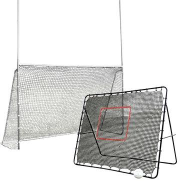 Precision Goalpost and Rebounder Bundle - BLACK