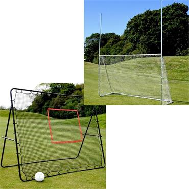 Precision Goalpost and Rebounder Bundle - BLACK