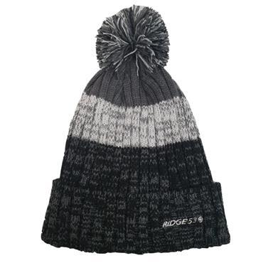 Ridge 53 Woolly Bobble Hat - Grey