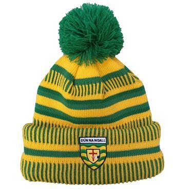 Donegal GAA Bobble Hat - Yellow/Green