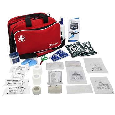 Precision Pro HX Run On Touchline Medi Bag + Medical Kit A - Red