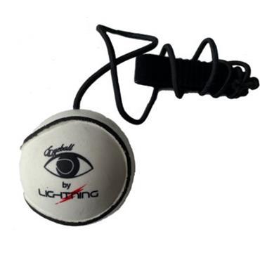 LS Sportif Lightning Eyeball Sliotar - White