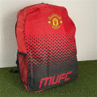 OFFICIAL MANCHESTER UNITED FADE BACKPACK - Red