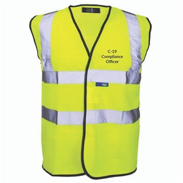 Michael Murphy Covid-19 Compliance Officer Hi Vis Bib - Yellow