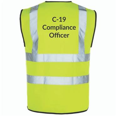 Michael Murphy Covid-19 Compliance Officer Hi Vis Bib Pack Of 10 - Yellow