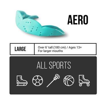 Sisu Adults Next Gen Aero Mouthguard (Large) - BLACK