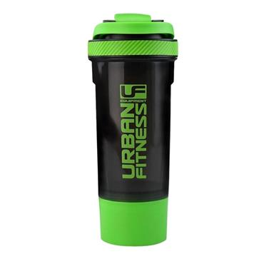 Urban Fitness 2in1 700ML Protein Shaker - BLACK