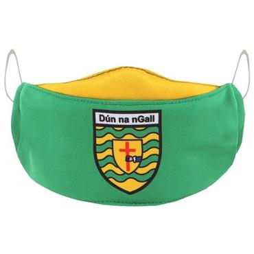 Oneills Kids Donegal GAA Face Mask - Green