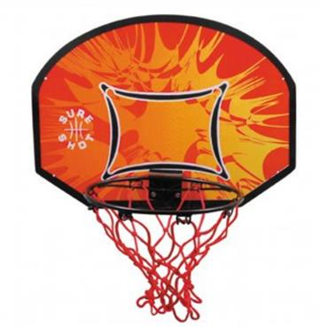 Sure Shot Little Shot Backboard & Ring Set - BLACK