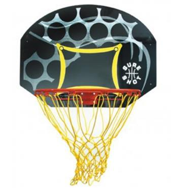 Sure Shot Junior Backboard & Ring Set - BLACK