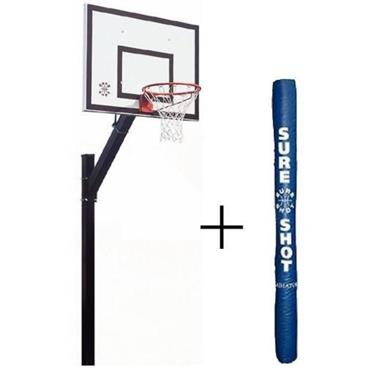 Sure Shot Eurocourt System With Padding - BLACK